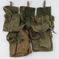 A quantity of five AK canvas pouches.