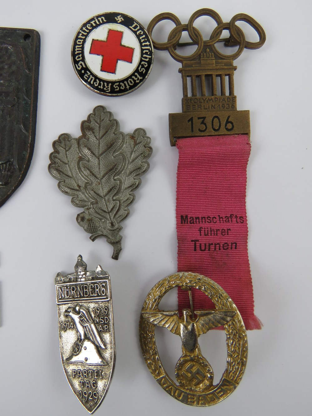 A quantity of assorted WWII German day badges including; 1944 Warschau, 1936 XI. - Image 3 of 7