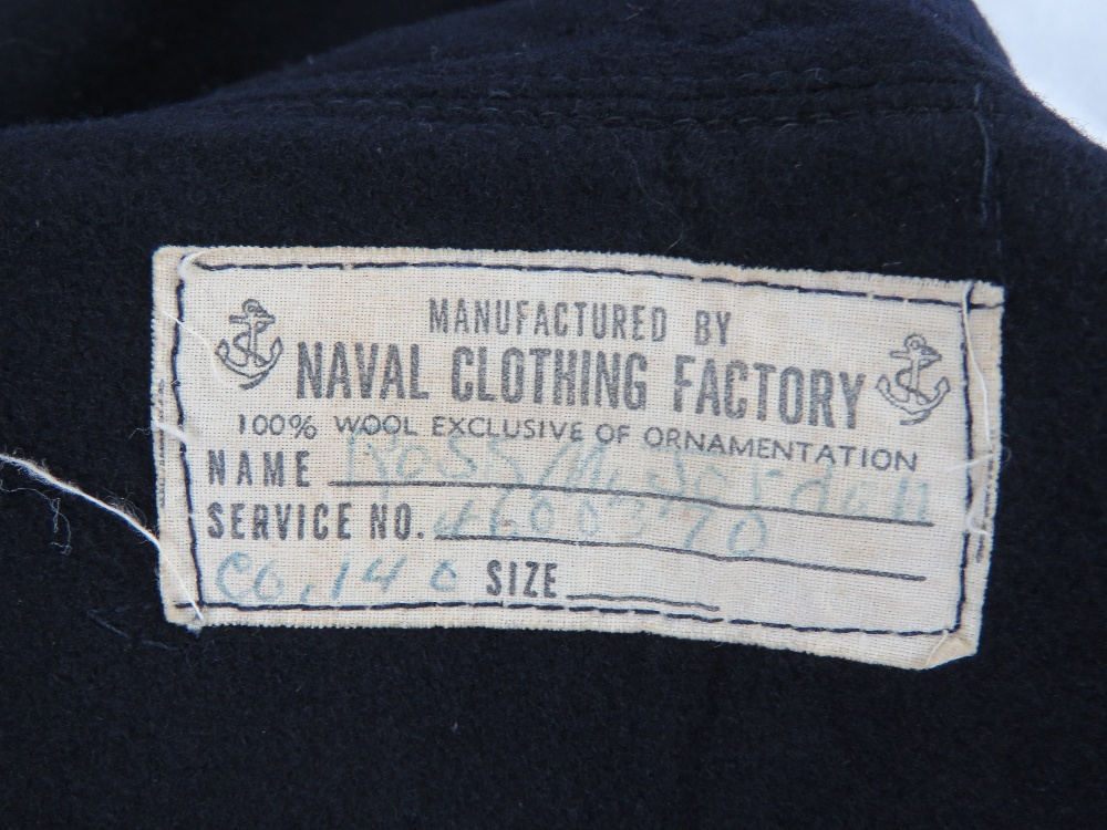 A quantity of US Navy uniform including tunic, sailors top with neck tie, shirt and trousers. - Image 6 of 7