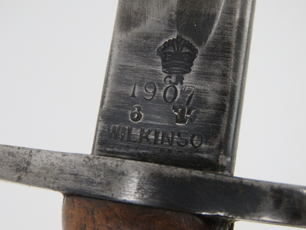 An SMLE 1907 pattern bayonet made by Wilkinson having inspection marks upon, - Image 2 of 4