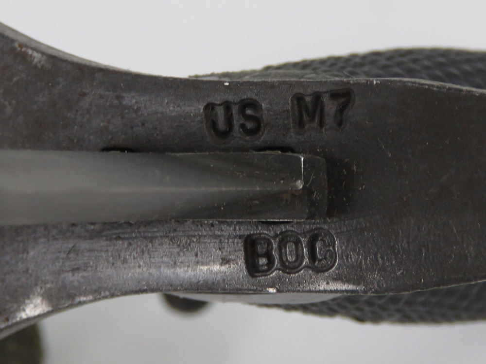 A Vietnam era M16 bayonet with scabbard and canvas frog. - Image 4 of 5