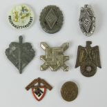 Eight assorted WWII German small day badges.