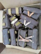 A large quantity of SKS ammunition pouches.