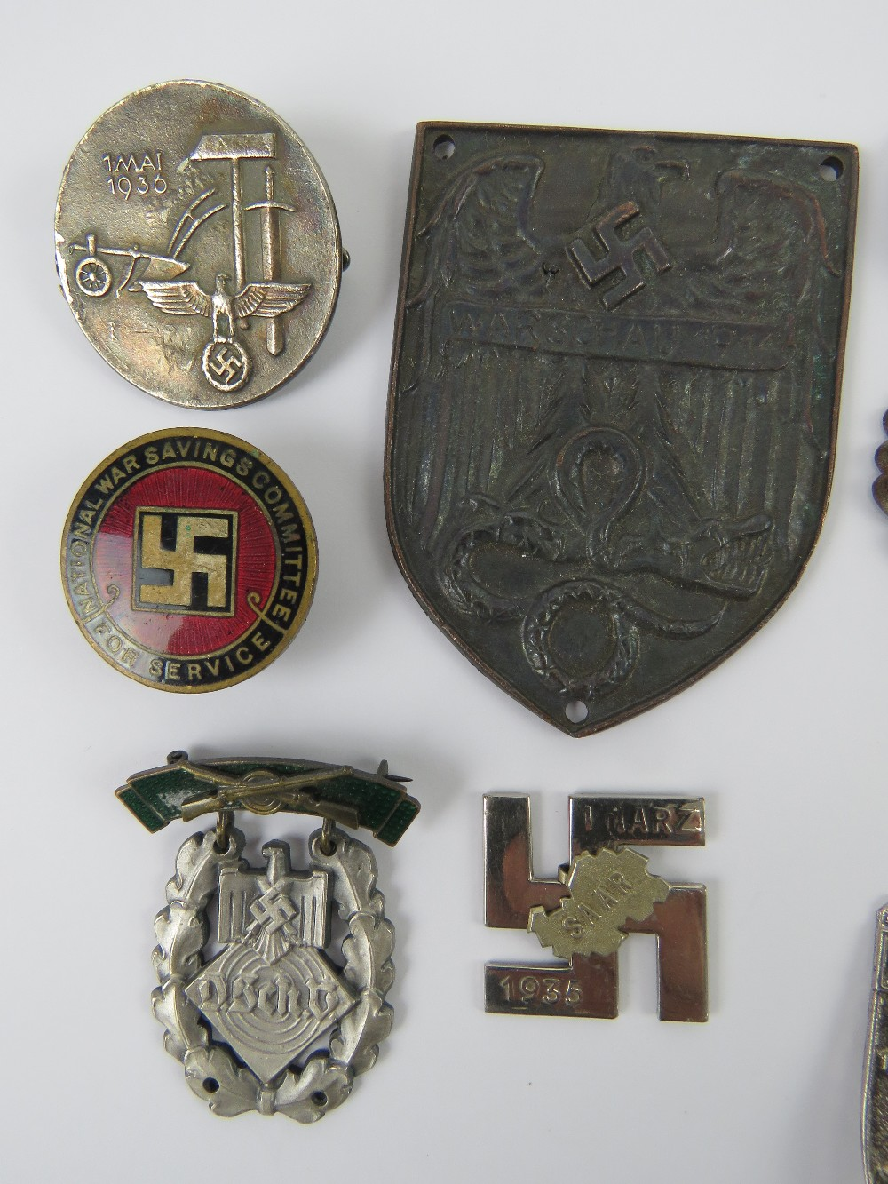 A quantity of assorted WWII German day badges including; 1944 Warschau, 1936 XI. - Image 2 of 7