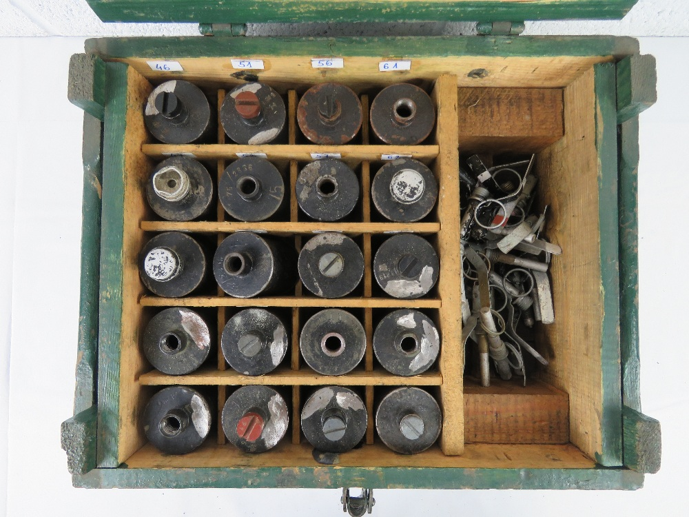 A box containing a quantity of twenty inert RG42 grenades with pins and fuses. - Image 2 of 7