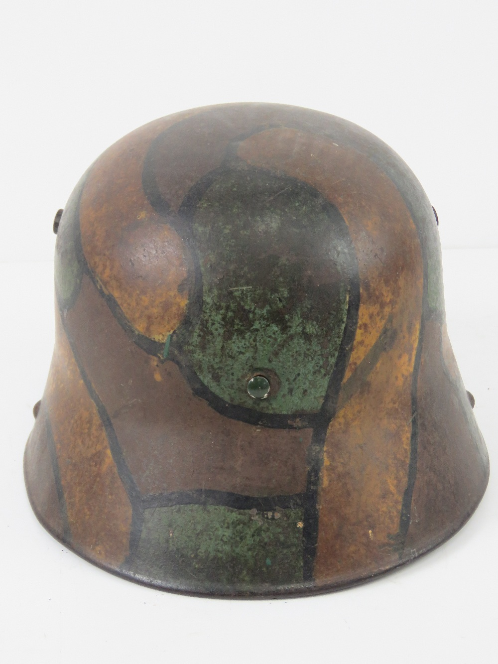 A WWI German M1916 snipers camouflage helmet having E.T. - Image 3 of 8