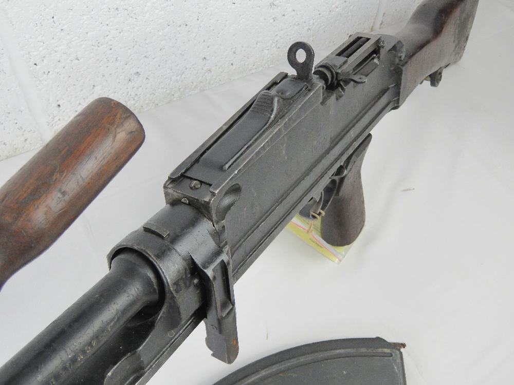 A deactivated Bren MKIII .303 light machine gun. - Image 6 of 9