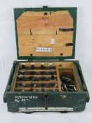 A box containing a quantity of twenty inert RG42 grenades with pins and fuses.