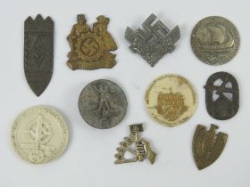 A quantity of assorted WWII German day badges including; N.S.B.