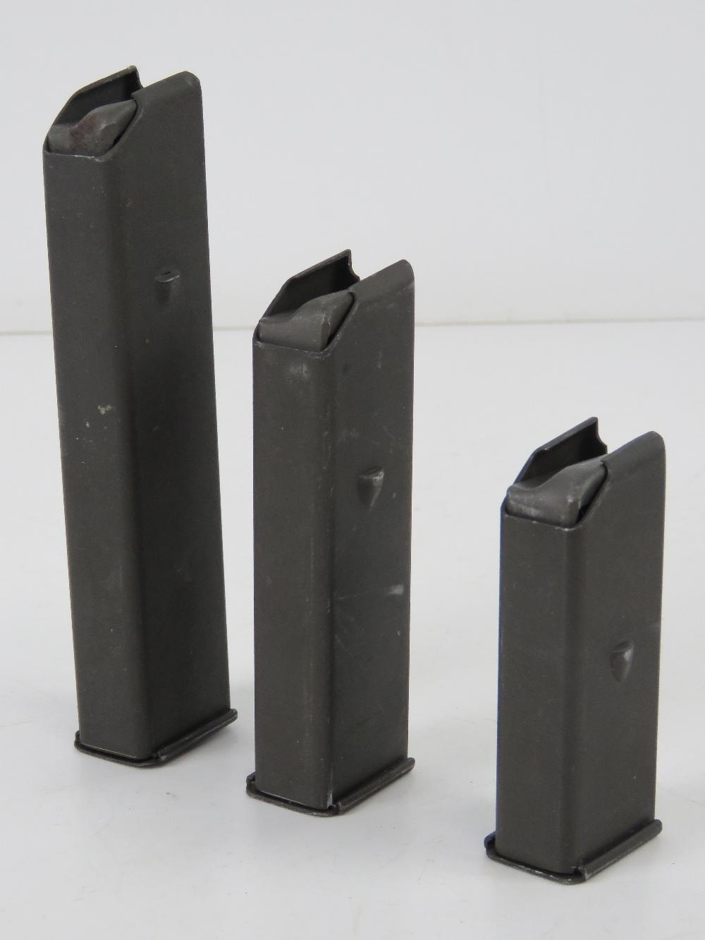 Three Beretta M38/M49 magazines; 10, 15 and 20 round.