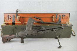 A deactivated Italian Breda Bren .