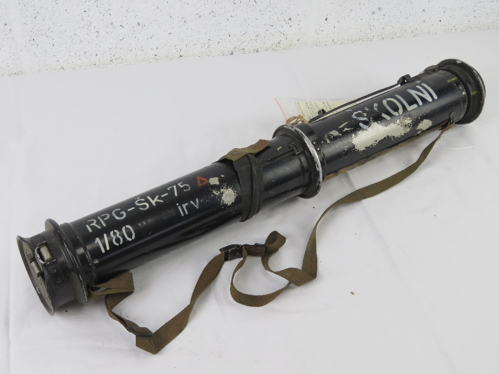 A deactivated Czech RPG-75 68mm rocket launcher. With EU deac certificate.