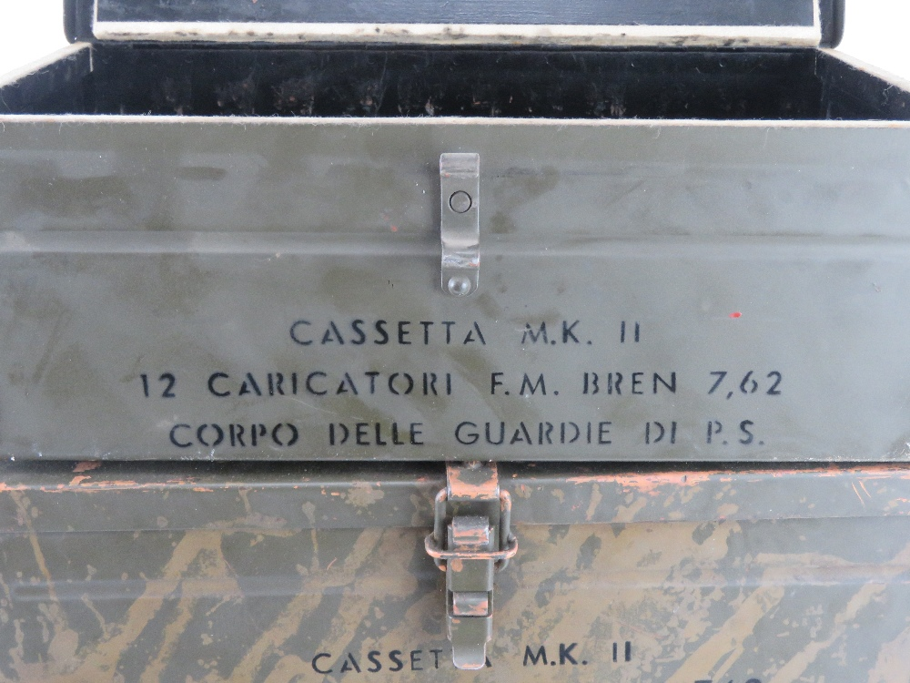 A quantity of four Italian 7.62 Bren magazines transit boxes. - Image 2 of 4