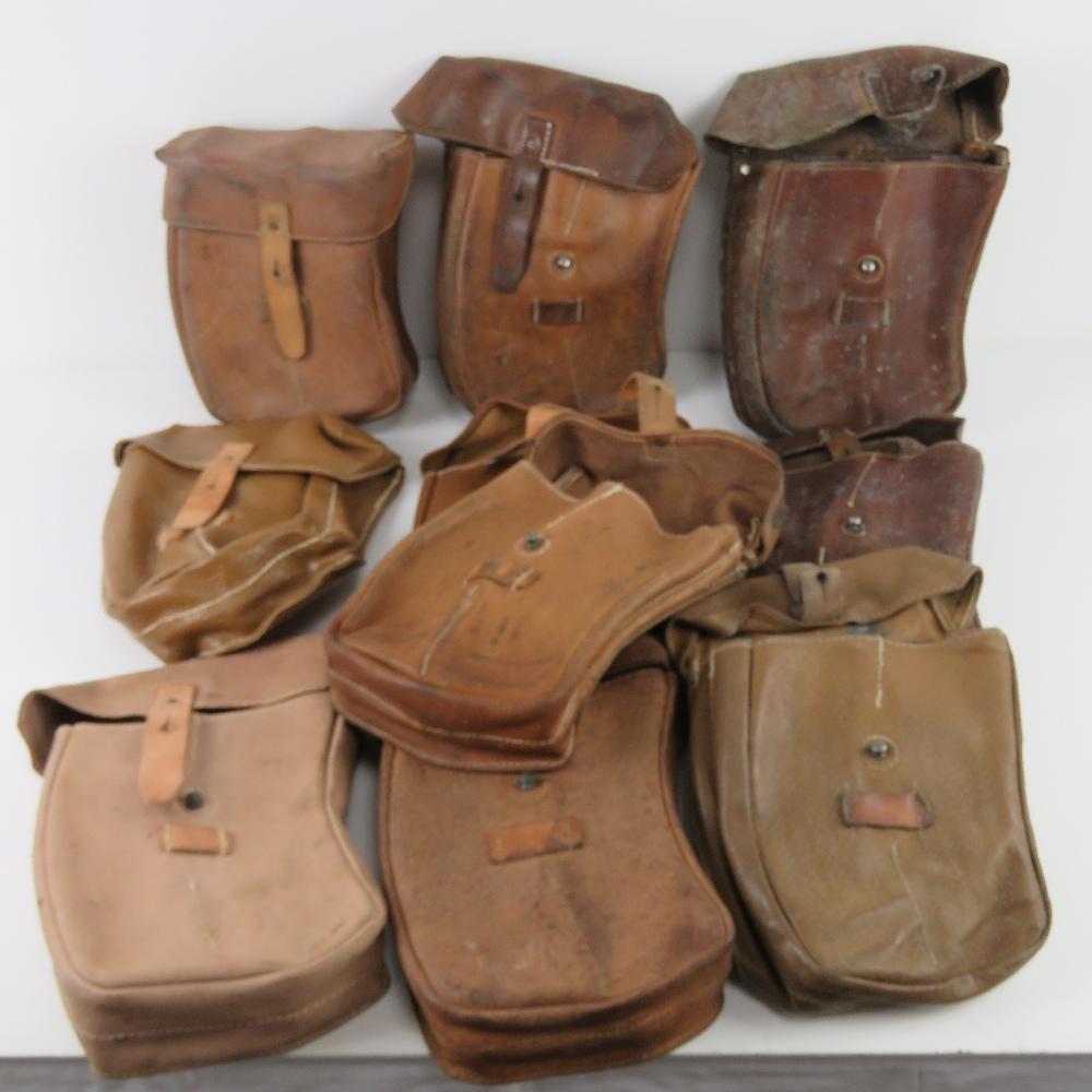 A quantity of ten VZ58 magazine pouches.