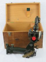 A box containing a British Royal Artillery scope, made by R & J Beck Ltd, designed for long range.