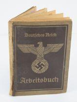 A WWII German employment record book Deutsches Reich Arbeitsbuch for a Horst Birka b.