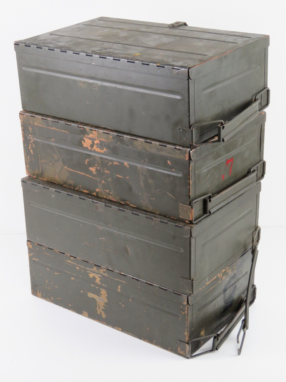 A quantity of four Italian 7.62 Bren magazines transit boxes. - Image 4 of 4