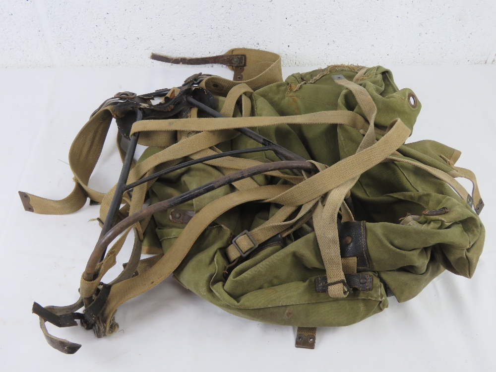 A WWII British back pack and frame. - Image 2 of 2