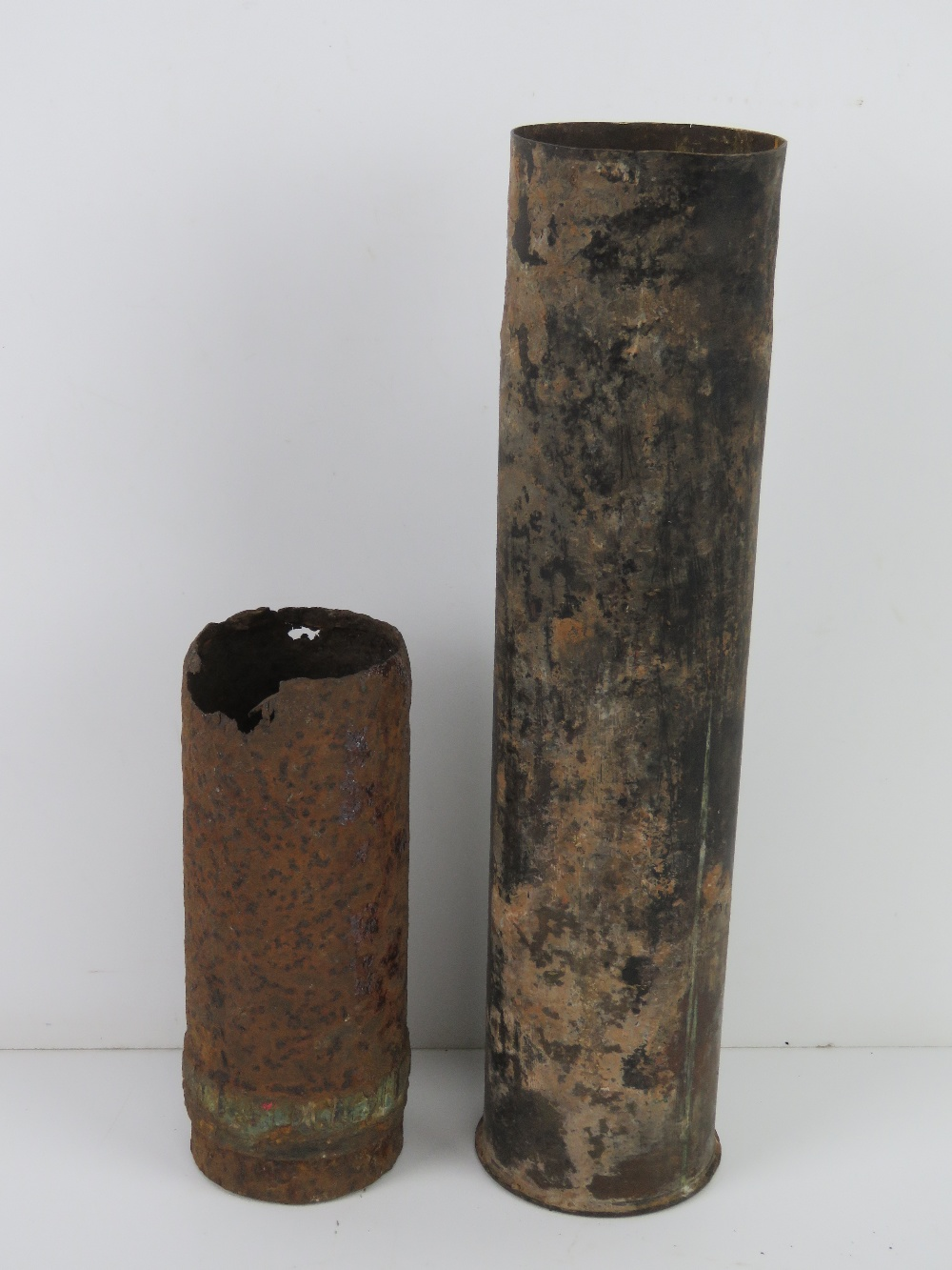 A relic WWI 7.5cm shell casing.