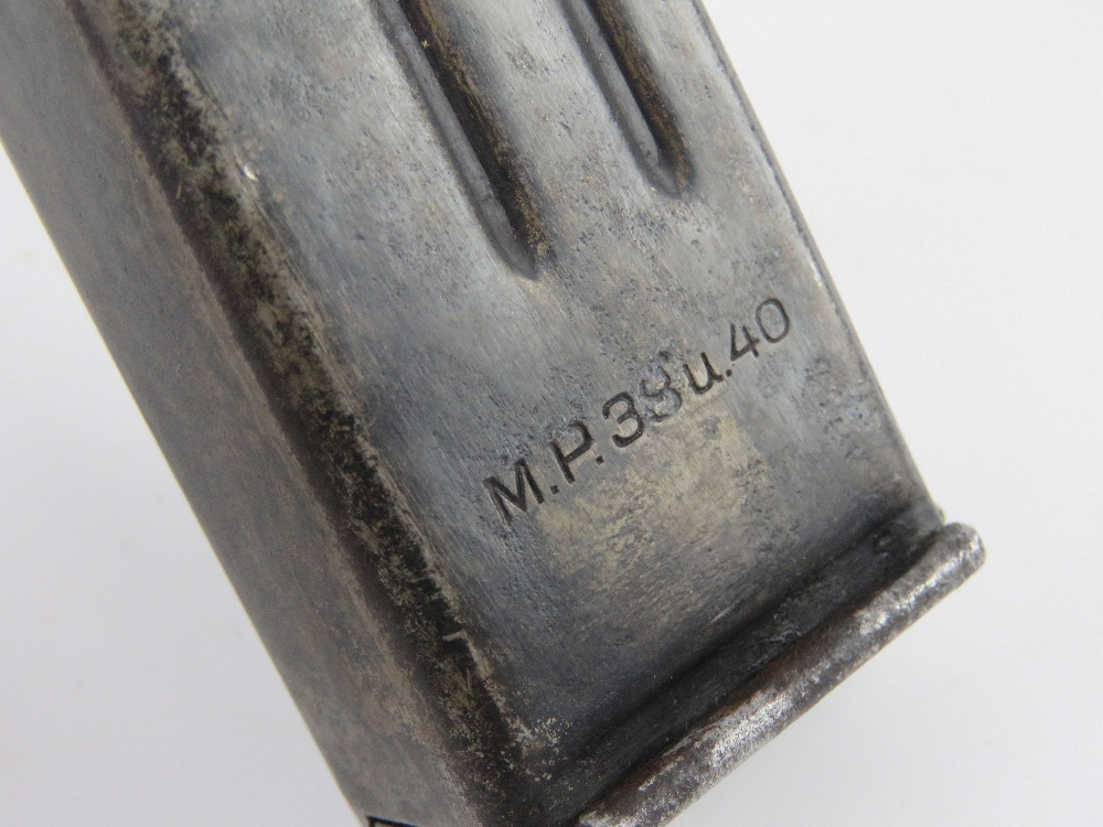 A WWII German MP40 magazine, dated 1941 with fxo makers mark upon. - Image 3 of 4