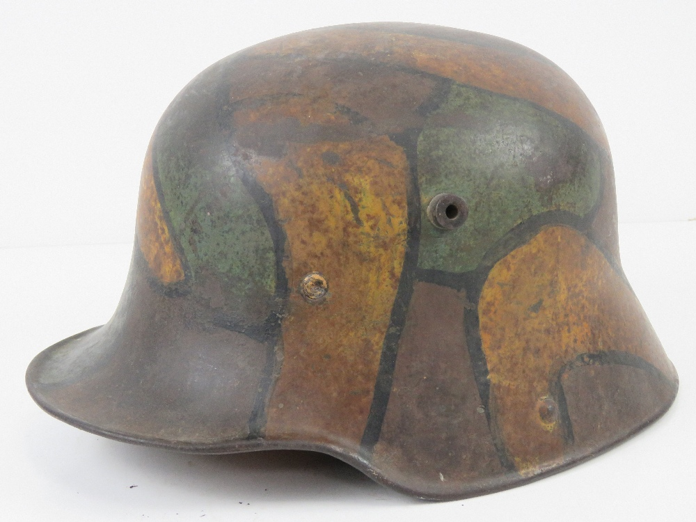 A WWI German M1916 snipers camouflage helmet having E.T. - Image 2 of 8