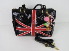 A Union Jack themed handbag 'as new', ap