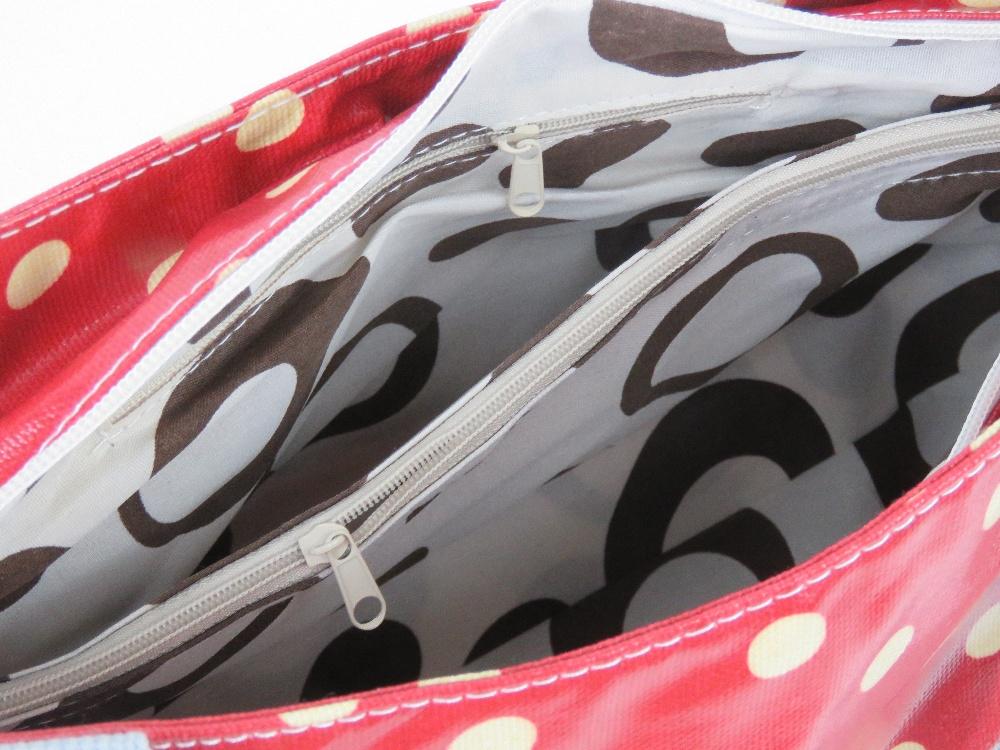 An 'as new' red polka dot handbag 49 x 2 - Image 2 of 2