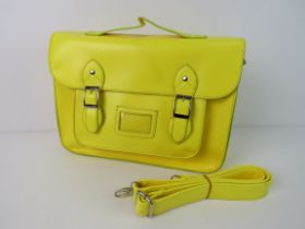 A Neon yellow satchel type handbag 'as n