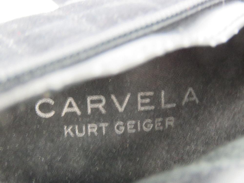 A pair of black velvet platform ankle bo - Image 5 of 5