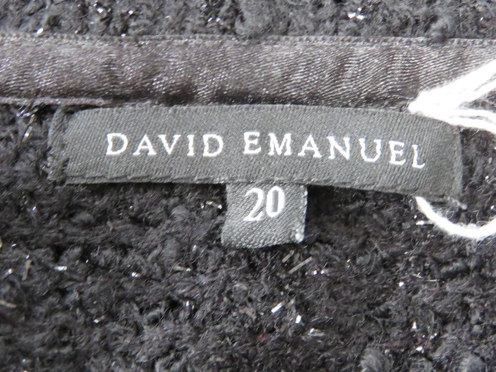 A David Emmanuel ladies black evening ja - Image 3 of 4