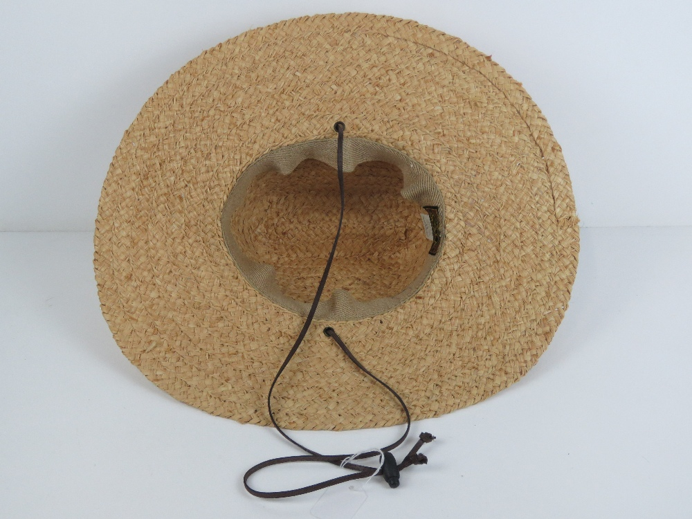 A handmade raffia straw hat made by Scal - Image 2 of 3