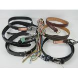 A quantity of assorted belts inc four 'a