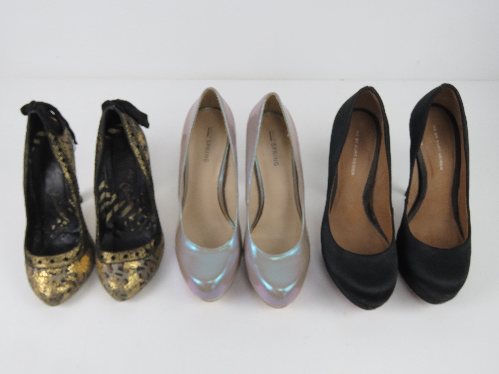 Three pairs of ladies heeled shoes inc b - Image 2 of 5