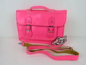 A Neon pink satchel type handbag 'as new