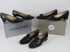 Two pairs of Peter Kaiser ladies leather