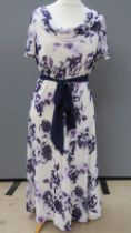 A Jacques Vert purple and cream floral d