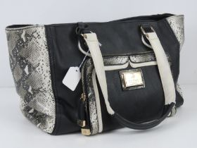 A handbag by Lipsy in black with 'python