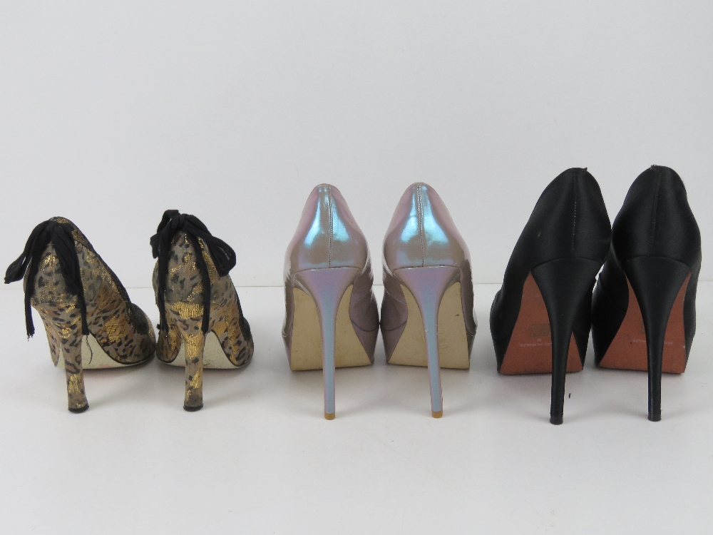 Three pairs of ladies heeled shoes inc b - Image 5 of 5