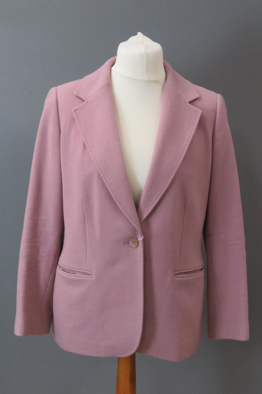 A blush pink jacket, 89% wool & 8% cashm