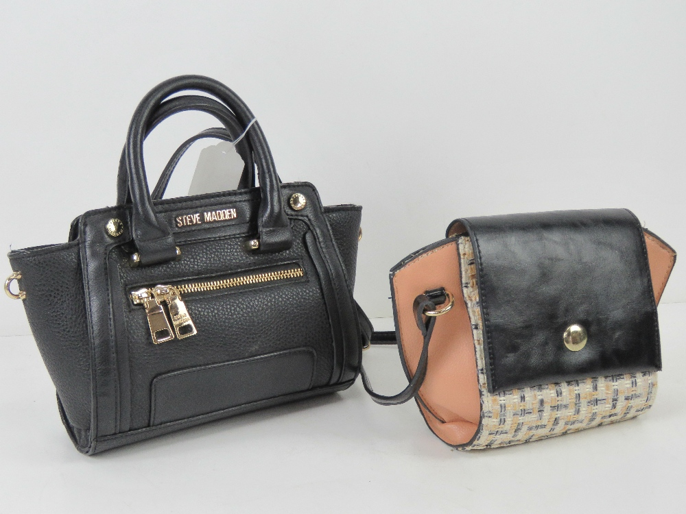 Two small handbags, one by Steve Madden,