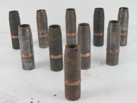 A quantity of ten 37mm Hungarian high ex