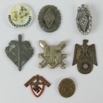 Eight assorted WWII German small day ba