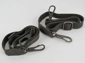 Two WWII German Lafette straps.