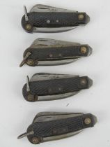 Four A.B.L Jack knives, dated 50s.