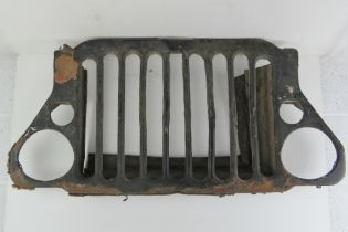 A WWII Willy jeep grill.