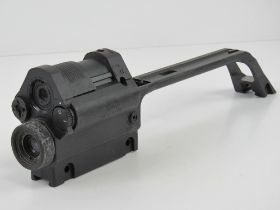 An HK G36 double optical/red dot sight with working collimator, made by scope maker Hensoldt,