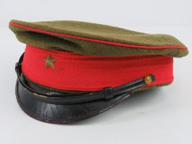 A WWII Japanese Army visor cap.