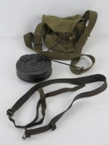 A WWII PPSH-41 leather sling, with magazine, magazine pouch and cleaning rod.