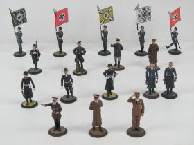 A quantity of Spanish Mundiart WWII German lead painted miniature figures, inc Hitler,
