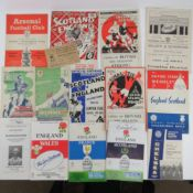 A quantity of assorted 20th century football, Rugby Union and Rugby League programmes, etc.